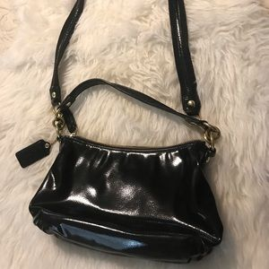 Coach patent leather crossbody bag